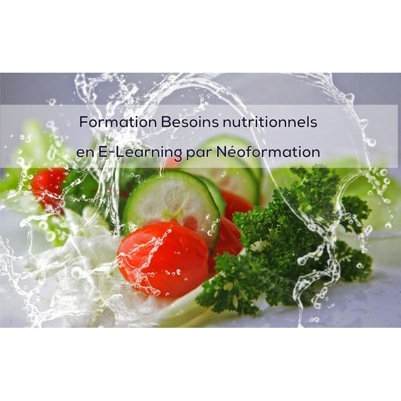 formation les besoins nutritionnels, foad, E-Learning, à distance, distanciel - naturopathie